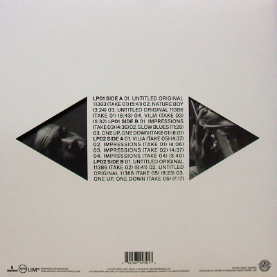 John Coltrane rear cover
