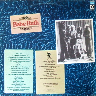 Babe Ruth - rear cover