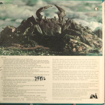 Giant Crab - rear cover