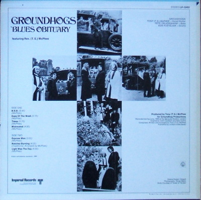 Groundhogs, Blues Obituary - rear cover