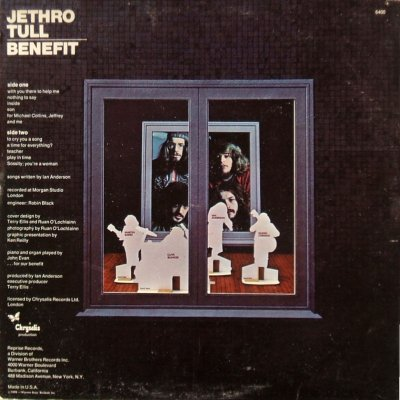 Jethro Tull Benefit - rear cover