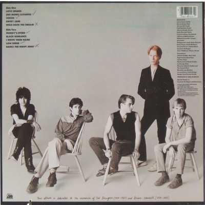 Jim Carroll Band I Write Your Name - rear cover