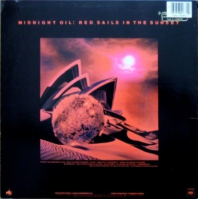 Midnight Oil - rear cover