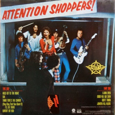 Attention Shoppers - rear cover