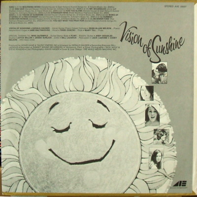 Vision of Sunshine - rear cover